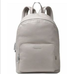 Michael Kors Wythe Leather Backpack Bag Pearl Grey